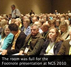 Footnote presentation at NGS 2010