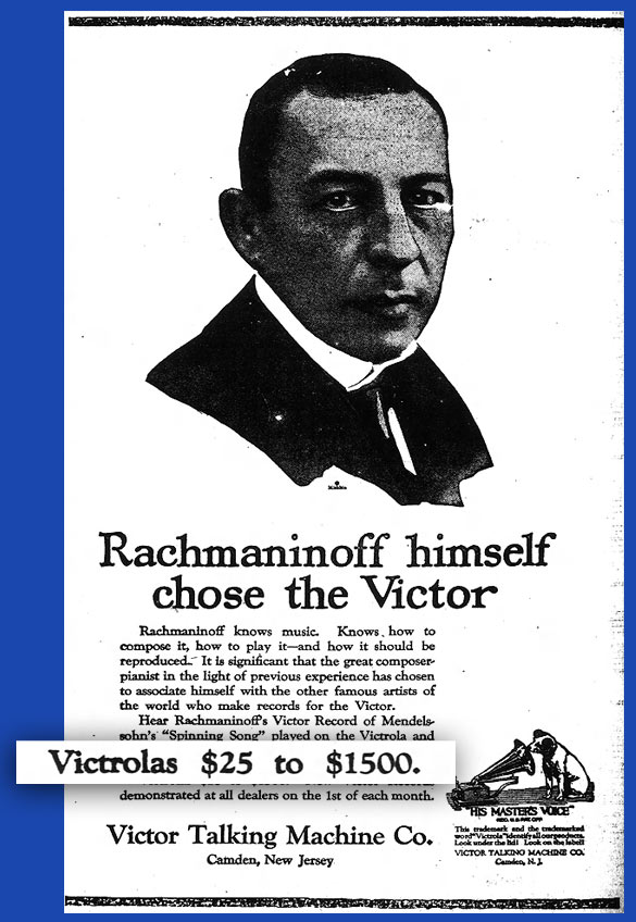 Victrola Newspaper Ad