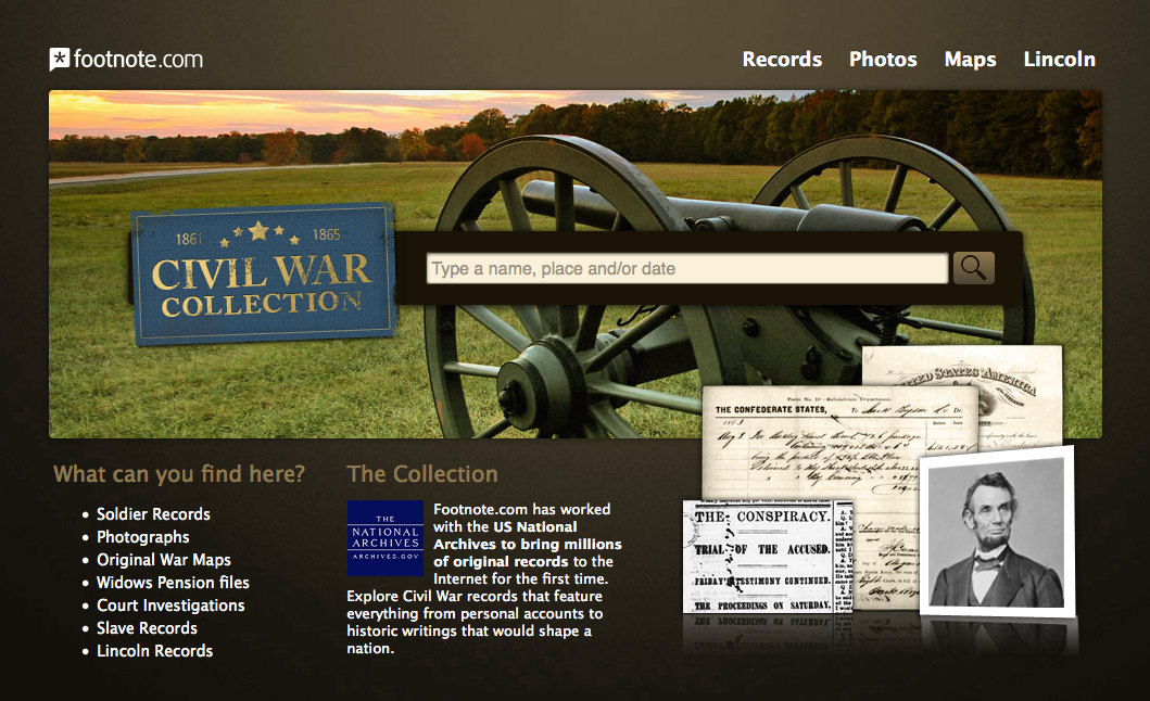 Footnote Civil War Collection