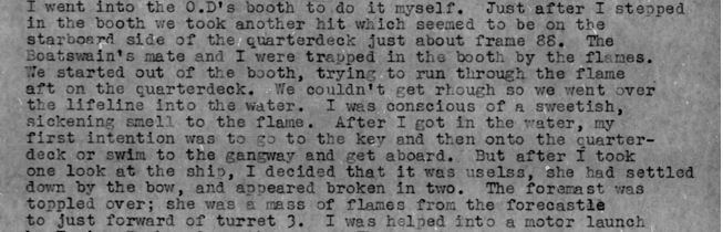 World War II Diary first hand account of the sinking of the USS Arizona