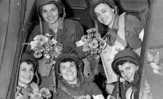 Nurses from the Air Evacuation Unit—1944 WWII